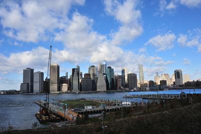 New York Downtown Skyline (von Brooklyn aus)