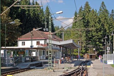 Bahnhof »Eibsee« der Bayerischen Zugspitzbahn