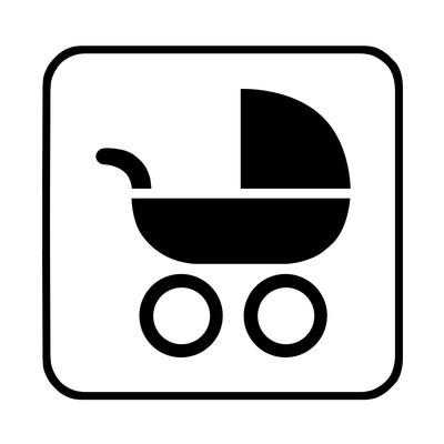 Hinweisschild Kinderwagen, Kinderwagentauglicher Weg
