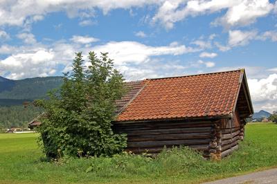 Heustadl außerhalb von Garmisch-Partenkirchen