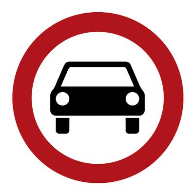 Verbotsschild: Verbot für Kraftwagen