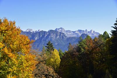 Rosengarten. Ein Bergmassiv in den Südtiroler Dolomiten.