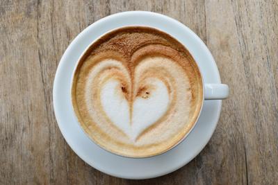 Kaffee von Herzen