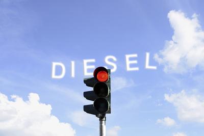 Rote Ampel für Dieselfahrzeuge, Stop Diesel!