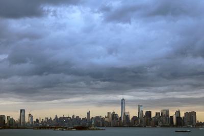 Skyline bei mäßigem Wetter