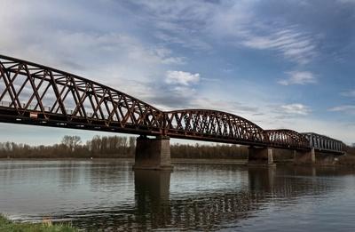 alte Rheinbrücke  Wintersdorf