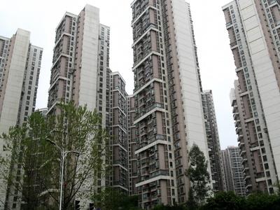 China, Hochhäuser in Chengdu