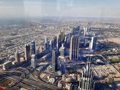 die Dächer von Dubai
