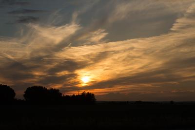 Sonnenuntergang...Südfrankreich