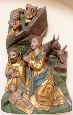 Relief Geburt Jesu in der Bonifatiuskirche in Arle / Ostfriesland