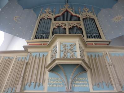Orgel der Kirche in Rysum / Ostfriesland