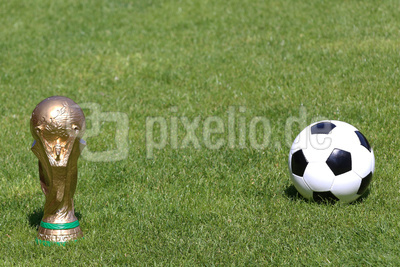 Pokal und Ball