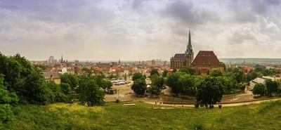 Blick von der Zitadelle Petersberg auf Erfurt