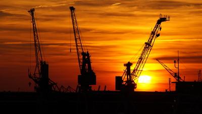 Abend im Hamburger Hafen