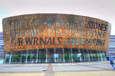 Wales Millennium Center - Inschrift