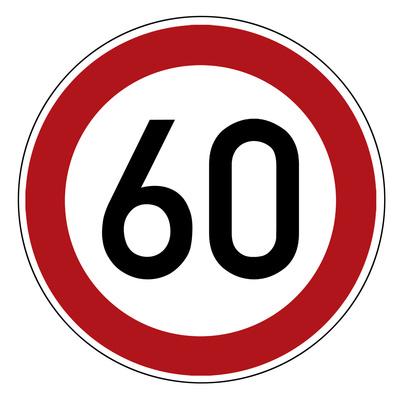 Geschwindigkeitsbegrenzung, Höchstgeschwindigkeit, Verbotsschild