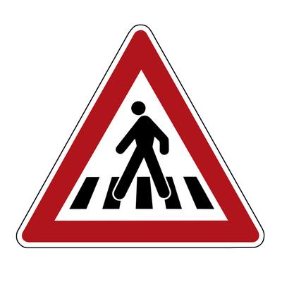 Achtung: Fußgängerübergang!