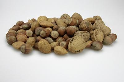 Nüsse, Nuss, Nussfrucht, Haselnüsse, Walnüsse, Mandeln