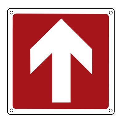 Brandschutzschild: Richtungspfeil nach oben/vorne