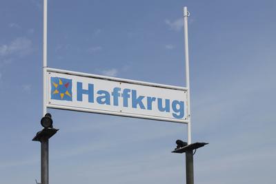 Haffkrug- Schild