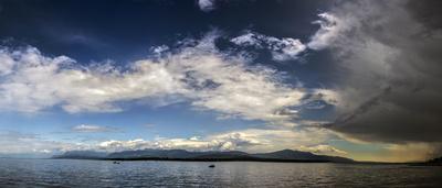Gewitterfront auf dem Genfer See