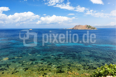 Glasklares Meer, Insel Lesbos, Griechenland