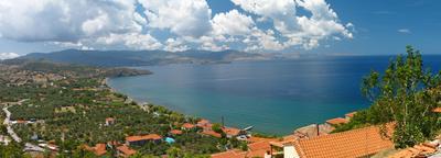 Ausblick vom Kastro Mythimna/Molivos, Insel Lesbos
