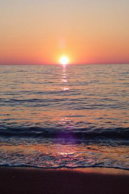 Sonnenuntergang Insel Lesbos, Griechenland