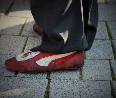 Schuhwerk eines Hochseilartisten