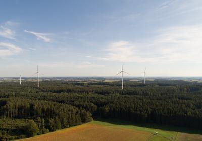 Windkraft aus der Vogelperspektive