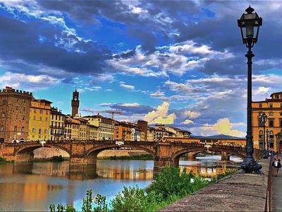 Florenz am frühen Abend
