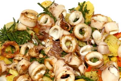 Calamaretti Kartoffeln Salicornes 1