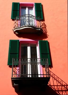 mediterranes Fenster-Duo