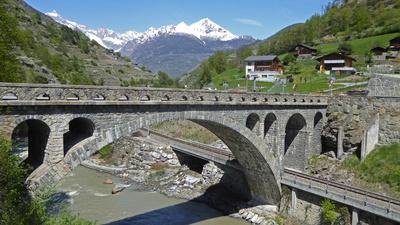 Neue Brücke bei Ackersand