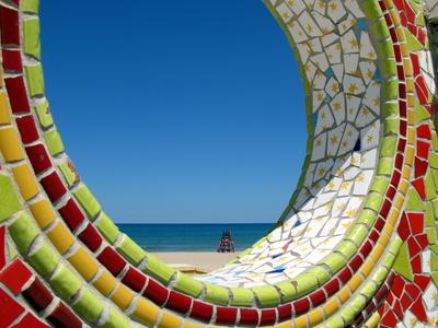 Mosaikkunst an der Promenade von Gandia
