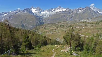 Abstieg nach Zermatt