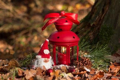 Weihnachtslaterne rot