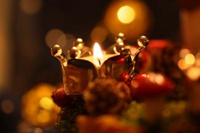 Kerzenlicht zum Advent