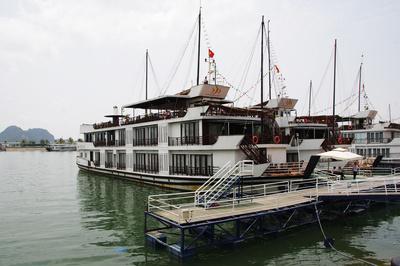 In der Bucht von Halong bei Hanoi