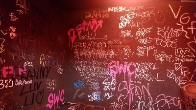 Graffiti auf dem Klo