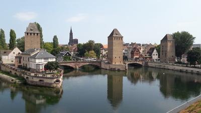 Die drei Türme der Gedeckten Brücken in Straßburg
