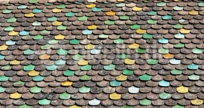 Textur bunter Dachziegel