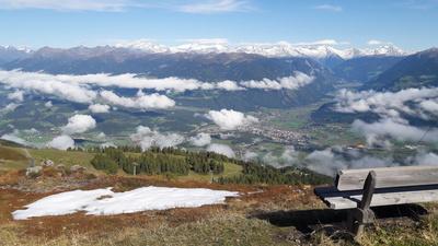 Über den Wolken - Blick auf Bruneck