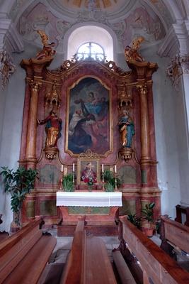 Seitenaltar Pfarrkirche St. Johannes zu Laas