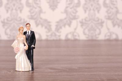 Brautpaar als Figuren