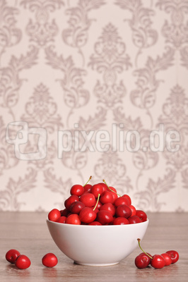 Frisch gepflückte Kirschen