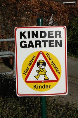 Kindergarten Vorsicht