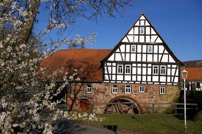 Schloßmühle zu Büdingen im Frühling
