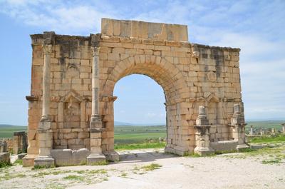 Volubilis - römische Ausgrabungsstätte in Marokko