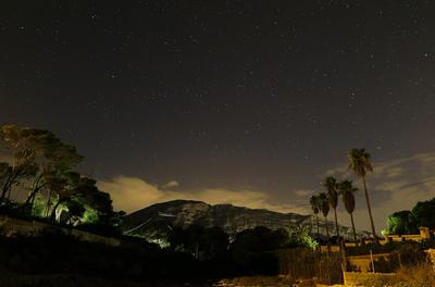 Sternenhimmel über dem Montgo